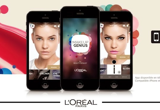 欧莱雅新版App,可AR技术360度查看染发效果