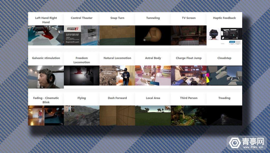 VR移动方式数据库来袭:共计109种方案