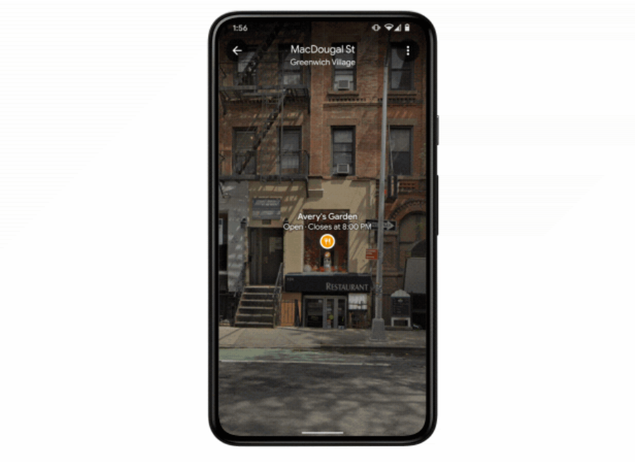 谷歌升级Live View AR导航,支持AR查看门店信息